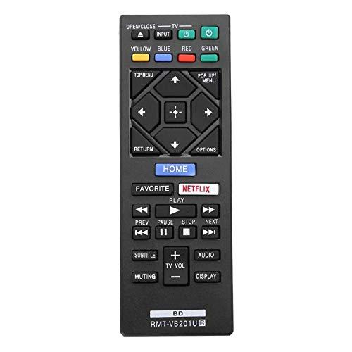 Vinabty RMT-VB201U Ersatz-Fernbedienung kompatibel mit Sony Blu-Ray BDP-S3700, BDP-BX370, BDP-S1700, BDP-S6700 DVD-Player ohne Bluetooth-Taste
