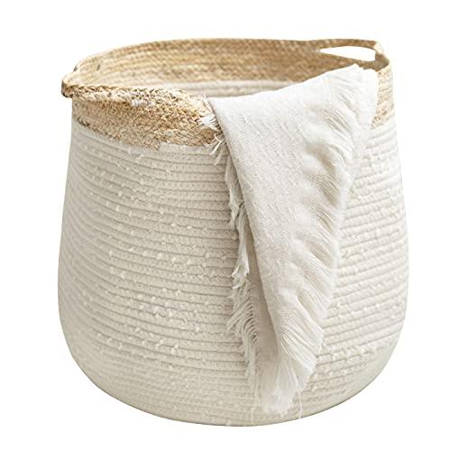 Rope Basket Woven Storage Basket - Laundry Basket...
