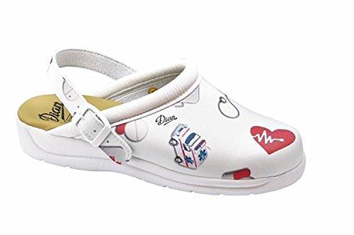 Dian Pisa estampado - zapatos hospitalarios - talla