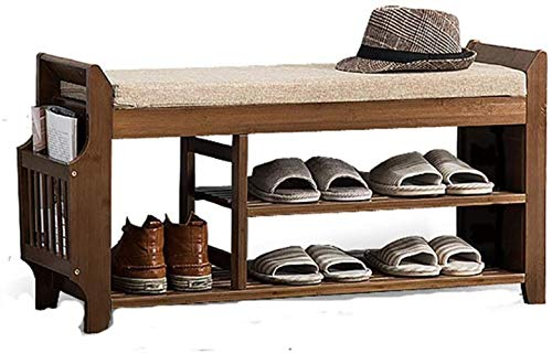 RYYAIYL Shoebox Shoebox Shoe Bench Step by Step to The Porch Shoeshine Bamboo Solid Wood Stool Shoe Shoe Shoe Shelf