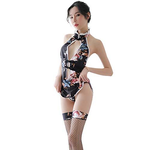 YOMORIO Sexy Cheongsam Dress Cosplay Lingerie for Women Qipao Babydoll Costume