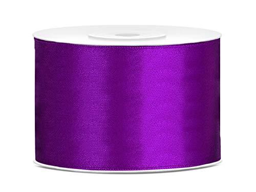 Satinband Dekoband 50 mm breit (violett) Geschenkband Schleifenband