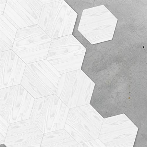 Zelfklevende tegels voor - [Vloertegels] - Folie Sticker Decals voor Vloertegels - Badkamer of Keuken I Tegel Stickers als alternatief voor Tegel Verf I 7.8x9in - Ontwerp Houten Graan Tegel Stickers