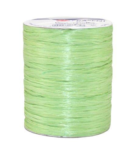 Präsent - Rotolo di Rafia, 100 m, Colore: Verde Lime