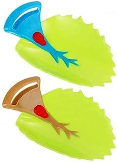 Rose + vert Prolongateur de Robinet pour Les Enfants Tout Petits 2PCS Rallonges de Robinet Rallonge de Poign/ée d/Évier pour Le Lavage des Mains des Enfants de B/éb/é
