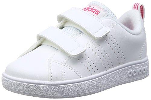 adidas Vs Advantage Clean Cmf, Scape per Sport Outdoor Unisex-Bambini, Bianco (Ftwwht/Ftwwht/Suppnk Ftwwht/Ftwwht/Suppnk), 24 EU