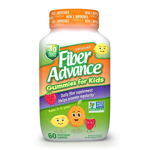 Fiber Advance Kid's Gummies: Plant Based Fiber for Digestive Health, 60ct (30 Day Supply)