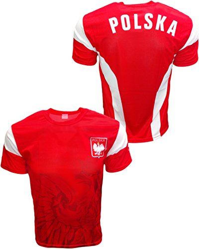 Polska Soccer Jersey Poland Country Polish Eagle National Pride - Red