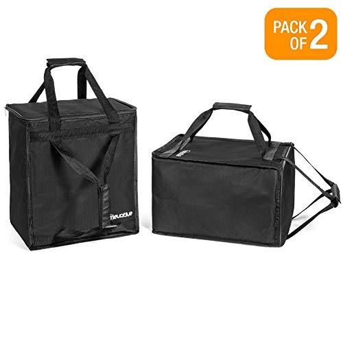 Homevative Reusable Insulated Grocery Bags Hot and Cold Food Storage for Shopping, Travel, and More. Cooler and Thermal Tote set. (Pack of 2) - Also Great for Shipt, Instacart, and Pro Shoppers -  NY-AACE-L7AM