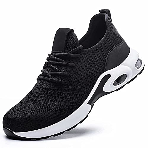TOSAFZXY Work Steel Toe Shoes Men Women, Puncture Proof Steel Toe Sneakers,Work Shoes Slip-Resistant Shoes Lightweight Breathable Air Cushion, Industrial & Construction Comfortable