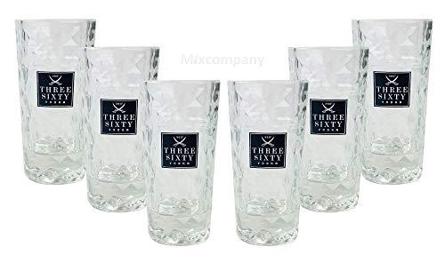 Three Sixty Vodka Wodka shotglazen glazen set - 6 stuks 2 en 4 cl geijkt