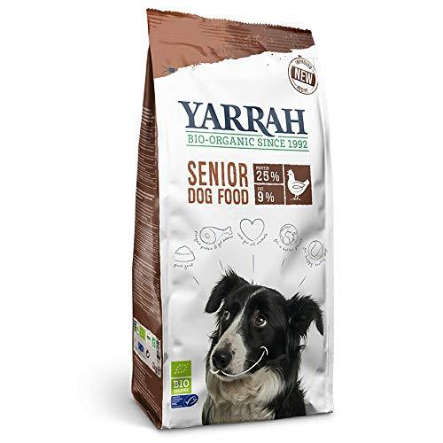 YARRAH Senior Cibo secco organico per cani anziani | squisiti bocconcini biologici con pollo, pesce ed erbe, 10kg | 100% biologico e privo di additivi artificiali