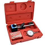 Dial Indicator, LIYYOO Dial Test Indicator Precision Measuring Gauge Tools Kit,with Magnetic Base and Point Precision Inspection Set, Long Arm 0-1' Tester Gage Gauge 0.001',Test Indicator