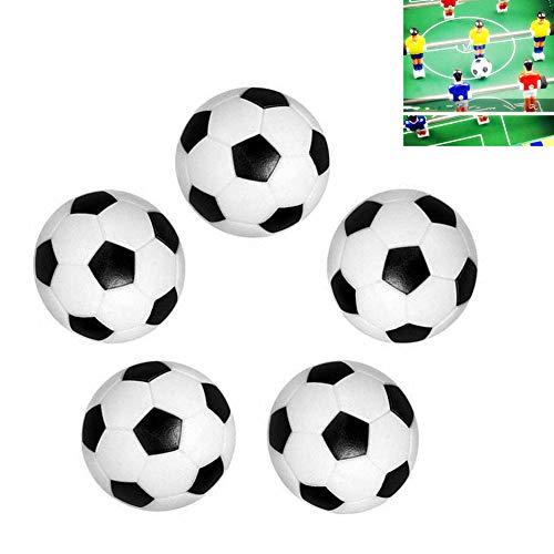 Qiorange 5 pelotas de repuesto para futbolín, 36 mm, para adultos y niños.