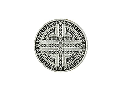 Chunk Click Button Ornament Labyrinth silber