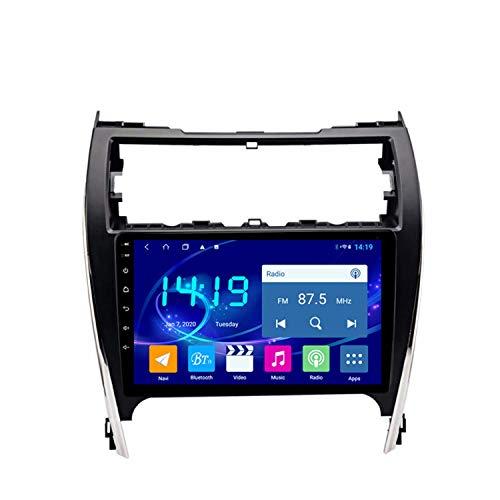 BBGG GPS 4GB + 64G Coche De 10 Pulgadas Estéreo Navegación por Satélite con Bluetooth Teléfono Manos Libres/Reversión De Video/DVD Radio/FM/Am/WiFi, Adecuado para Toyota Camry 2012-2014