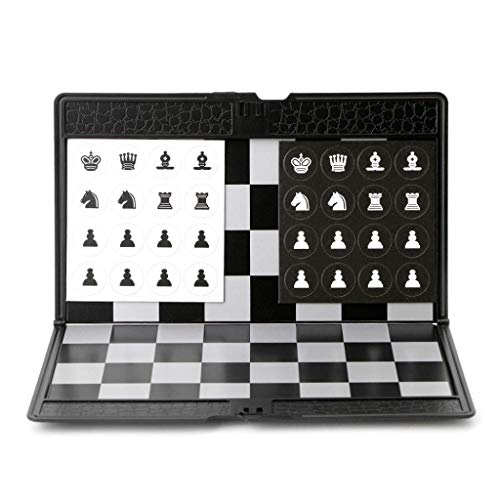 Juego de ajedrez Internacional Plegable de Bolsillo Tablero de Damas Viajero Avión Juego de ajedrez Entretenimiento