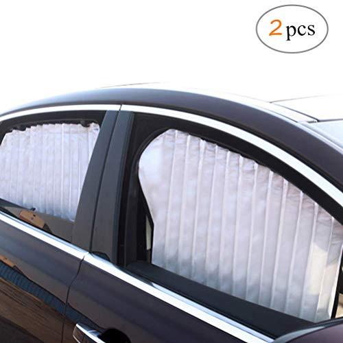 ZATOOTO Sonnenschutz fürs Auto Vorhang, Sonnenschutz Magnetisch für UV-Schutz, Hitzeschutz, Silber