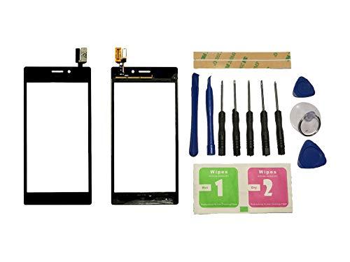 Flügel para Sony Xperia M2 D2302 D2303 D2305 D2306 Pantalla de Cristal Táctil Touchscreen Glass Display Negro( Sin LCD)de Recambio & Herramientas