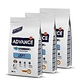 ADVANCE Light Adult Medium - Pienso Light para Perros Adultos De Razas Medianas con Pollo - 3 Kg x 3