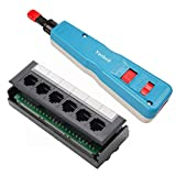 Yankok 6 Port CAT5/5e Patch Panel with 110 Impact Punch Down Tool (Standard) Kit Sold As A Bundle