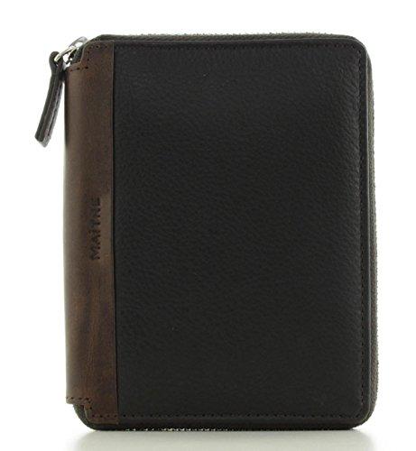 Maitre Herren Brieftasche mit rundum Reißverschluss Leder Dark brown