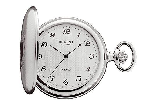 Regent - Taschenuhr - Mechanisch - Silber - Arabisch - P10