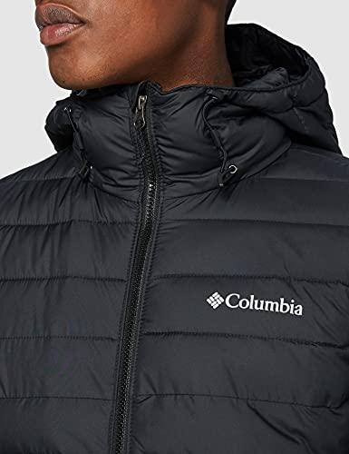 Columbia Powder Lite Hooded Chaqueta, Hombre, Black, M