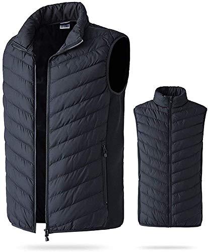USB-Aufladung Smart Fever Vest Herren Herbst Und Winter Herren Elektroheizung Warme Baumwollweste Jacke Wiederaufladbare Gilet,Blue-2XL