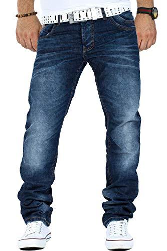Cipo & Baxx Herren Jeans CD186A-bans, Blau, 34W / 32L