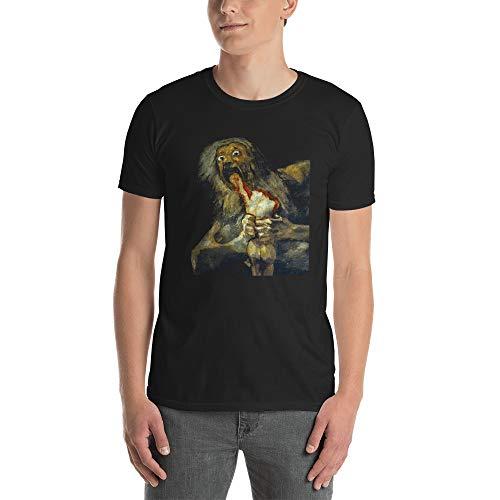 Saturn Devouring His Son Short-Sleeve Unisex T-Shirt Black