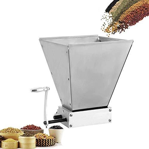 4YANG Moulin à grains, 8Lbs/Min broyeur de grain avec 2 rouleaux réglables en acier inoxydable pour brassage de l'orge, du blé, du malt, du riz, du raisin et du sésame