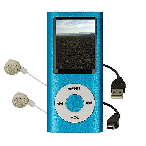 Reproductor MP4 con Pantalla LCD, Visor de Fotos, Reproductor de Video, Lector e-Book, Radio FM, Grabadora de Voz, Color Azul