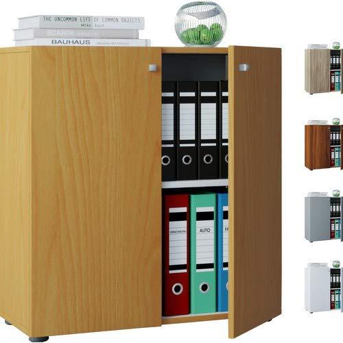 VCM Sideboard Kommode Anrichte Aktenschrank Bücherregal Büroschrank Dielenmöbel Weiß 70x70x40 cm Vandol Mini