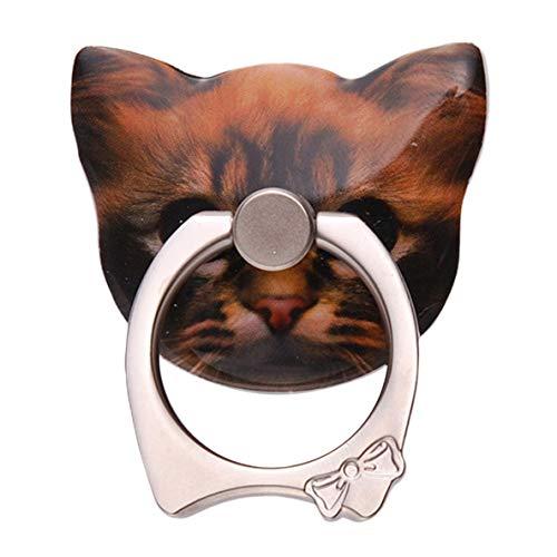 DWWW vriendelijke schattige mobiele telefoon beugel kat ring gesp metalen beugel mobiele telefoon gesp Boutique mobiele telefoon beugel, 4
