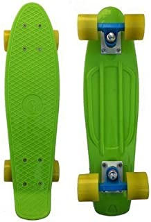 dazzling toys Green Skateboard Gift | Smooth Riding Skateboard - Retro Style Cruiser Skate Board, Durable Polypropylene with PU Wheels, One Size Fits Most, Green, by