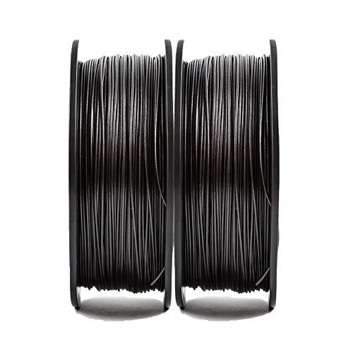 PLA 1.75mm Filamento de fibra de carbono, Filamento de la impresora 3D 1kg, PLA + FIBRA DE CARBONO-Negro carbón 2kg