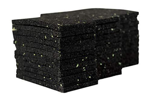36 Stück 6 mm 50 x 100 mm Terrassenpad, Terrassenpads aus Gummi – Unterlagepads für die Unterkonstruktion ihrer Terrassen Balkon oder Gartenhütte