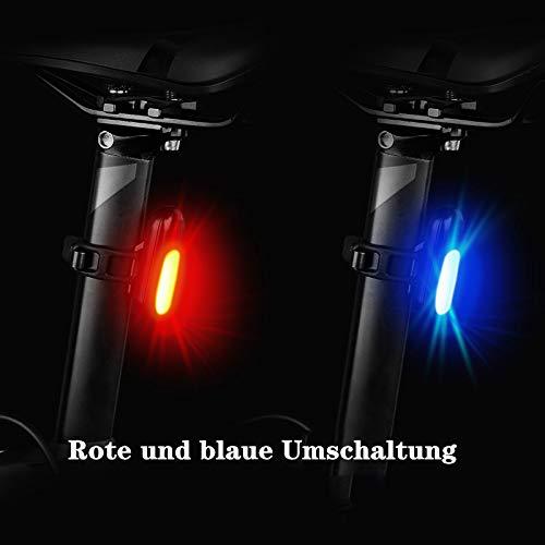 FGSHA Universal Led Batterie-Rücklicht Für Schutzblech, Rot/Schwarz, 63X37X35 Mm,Es Passt Auf Ihr Fahrrad, Rasenmäher,Roller Kajak Und Vieles Mehr!