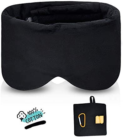 Handmade Cotton Sleep Mask Blindfold Breathable Blackout Sleeping Eye Mask for Women Men and product image
