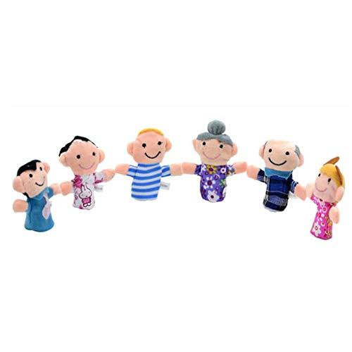 SimpleLife Juego Marionetas Dedo Familia 6 Piezas