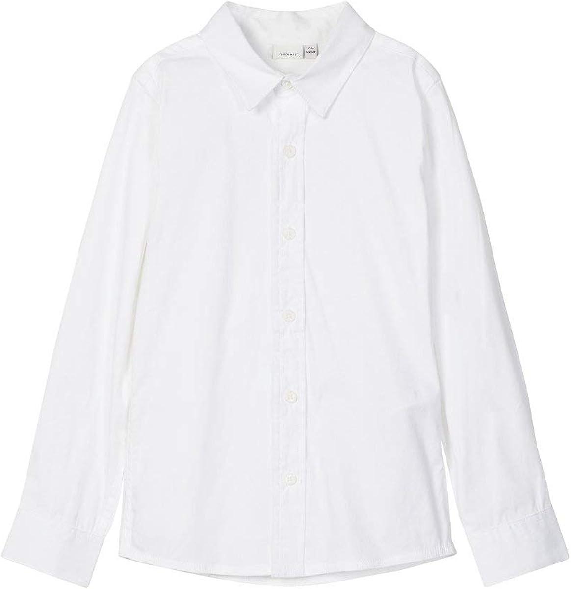 NAME IT Nkmfred LS Slim Shirt Noos Camisa para Niños