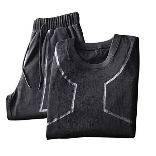 KESYOO 1 Set Lässige Kurzarm T-Shirt Kurze Hose für Männer (M)