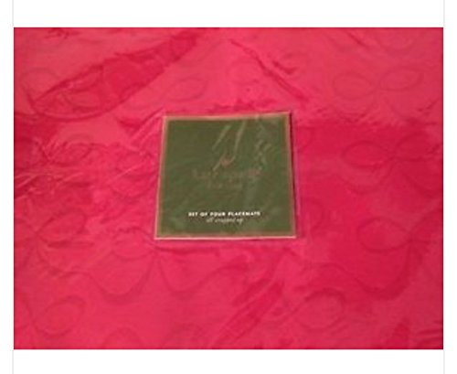 Kate Spade Place Mats All Wrapped Up,Set of 4, Cranberry