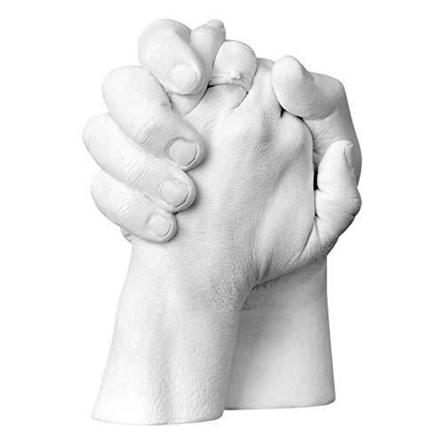 2021 3D Abformset mit Zubehör | Handabdruck, Gipsabdruck | Geschenkidee zum Valentinstag Hausparty | Andenken Hand Casting Kit Large | DIY Gips Statue Moulding Kit Hand halten (AA)