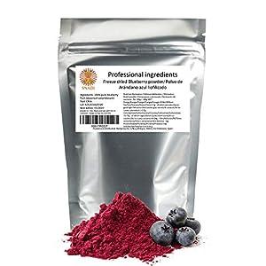 Arandanos liofilizados Sin azúcar - Sin aditivos x 200 g. Fruta congelada 100% puro blueberry - arandanos. Fibra alimentaria, vitamina C y fuente natural de antioxidantes.
