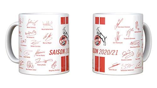 1. FC Köln Tasse, Becher Team mit Unterschriften Saison 2020/2021, 4020232