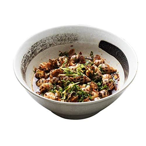 BaiJaC Cuenco para Comer, Tazón de cerámica Retro de Estilo japonés Cerami, Cocina Creativa Cocina Ramen Bowl Snow Glaze Vajilla 21 8,5 cm Ensalada Ramen Sopa Fruta de la Sopa