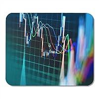 """マウスパッドレッドトレード株式市場グラフおよび棒グラフ価格マウスパッドノートブック、デスクトップコンピューターマット9.5"""" X 7.9""""オフィス用品"""