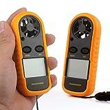 Aofan Medidor digital de escala de velocidad de viento LCD portátil Anemómetro digital para windsurf, cometa, vuelo, navegación, surf, pesca medición de velocidad del viento